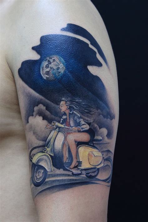 scooter tattoos 17 best images about scooter tatoos on pin up