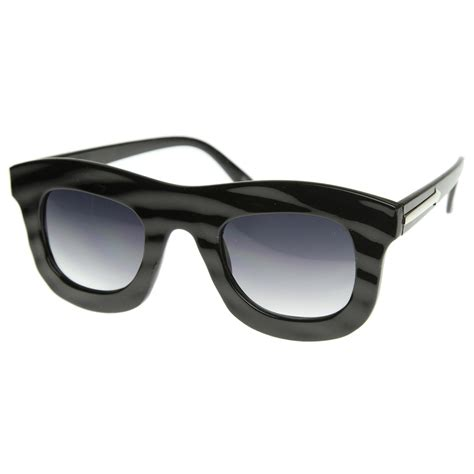 Thick Frame Sunglasses stylish unique runway fashion bold thick frame sunglasses