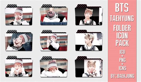Meme Folder - bts taehyung v folder icon pack by baekjung on deviantart