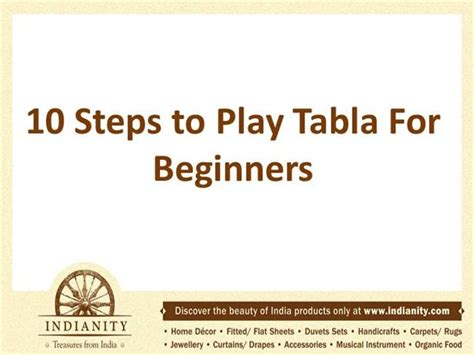 tabla lessons 10 steps to play tabla for beginners authorstream