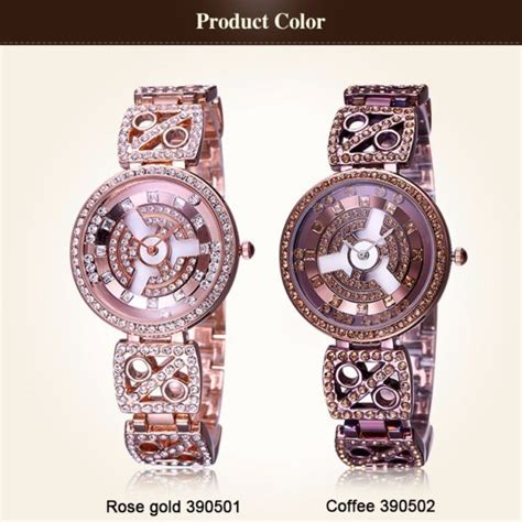Weiqin Fashion Water Resistant 30m W4824 Gold weiqin gold tone shiny bracelet watches