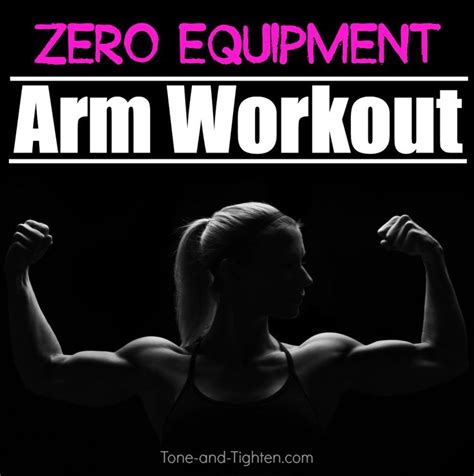 20 minute at home arm workout no weights required on