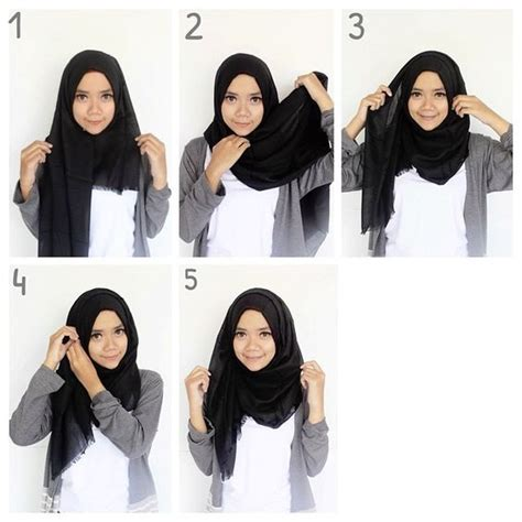 tutorial hijab simple segi empat tutorial hijab pashmina simple untuk kuliah www imgkid