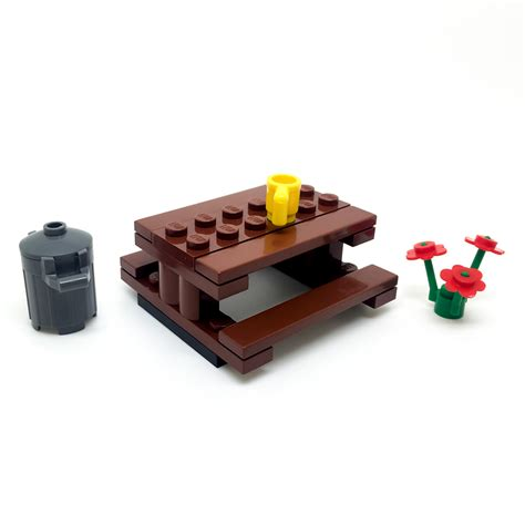 lego storage bench lego picnic garden park table bench with accessories city