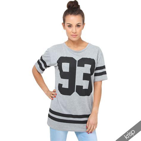 Tunik Jacket By Mlb 1 womens american college print t shirt tunic top baseball ebay