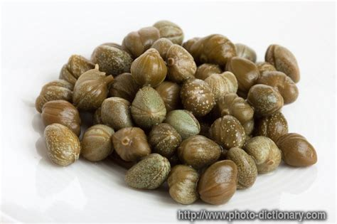 marinated capers photo picture definition at photo dictionary marinated capers word and