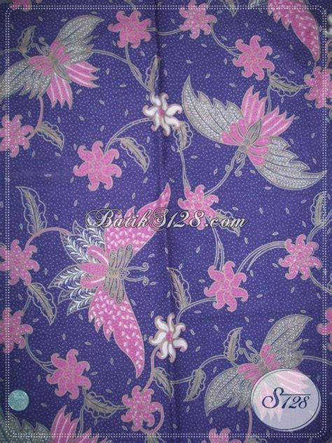trend warna kain 2014 trend kain batik motif kupu dengan warna ungu bahan batik