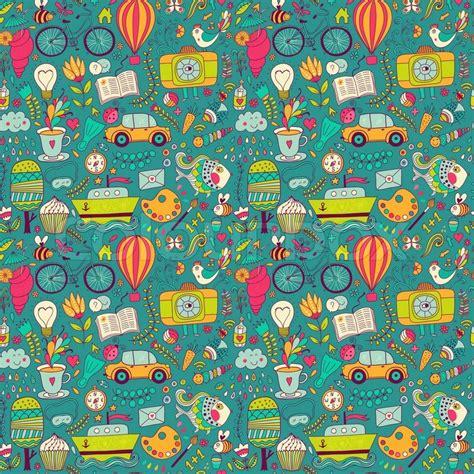 pattern web page vector seamless pattern childish doodles pattern set of