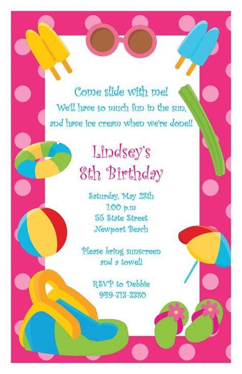 backyard birthday party invitations 17 best images about water park backyard birthday party on