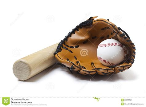 baseball glove bat  ball stock photography image