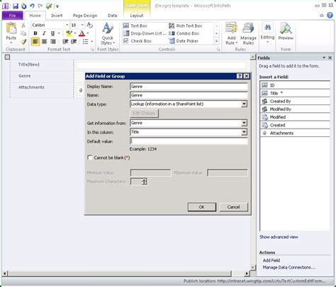 sharepoint edit template creating custom edit forms with infopath in sharepoint