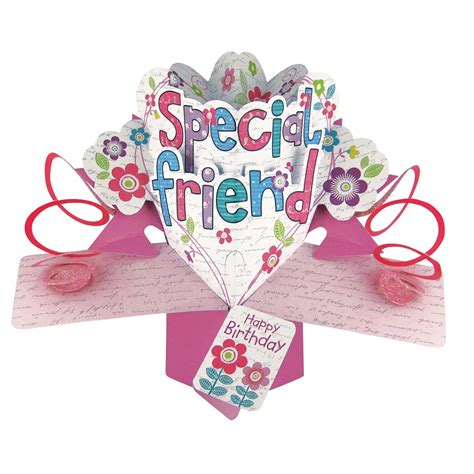 up card special friend birthday pop up greeting card cards
