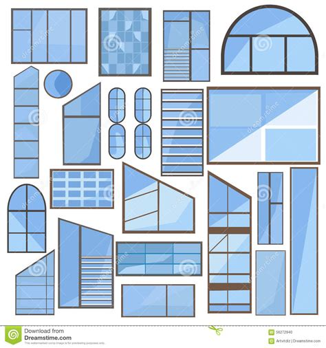 modern home design vector set window glass frame stock vector image of design