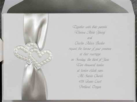 silver wedding invitations templates white and silver wedding invitations www pixshark