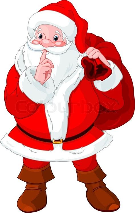 google images santa claus illustration of santa claus gesturing shush stock vector
