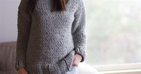easy jumpers to knit winters chunky easy knit pullover pattern in a stitch