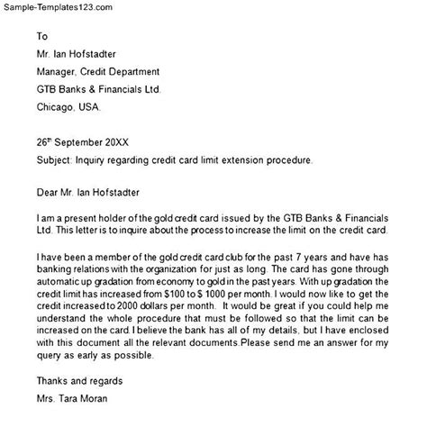 Letter Of Explanation For A Credit Inquiry Credit Card Inquiry Letter Sle Templates