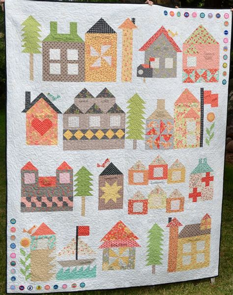 quilt pattern house free happy quilting be my neighbor c moda version