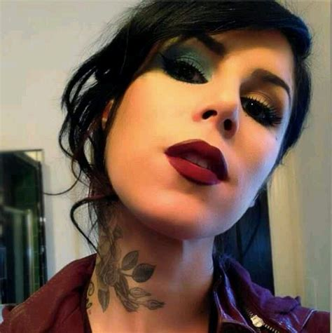 kat von d tattoo eyeliner d makeup lipstick neck eyeshadow