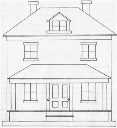 dollhouse drawing how to draw a dollhouse