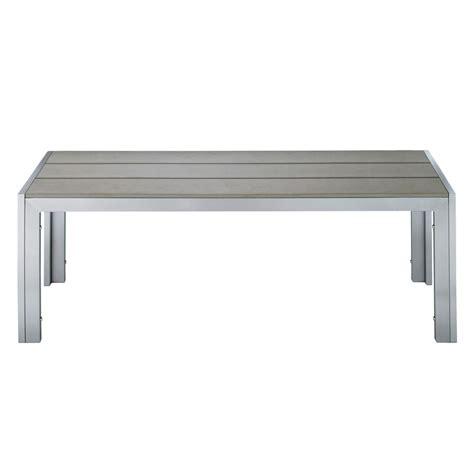 garden bench brisbane garden bench in aluminium and imitation wood composite in grey w 120cm brisbane