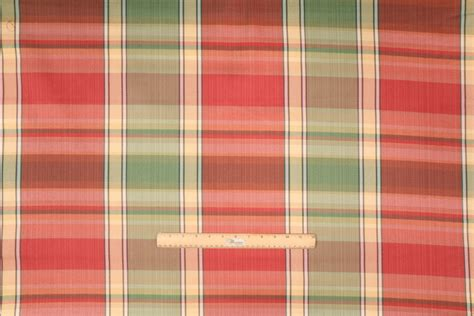 plaid vinyl upholstery lenox plaid upholstery fabric in multi