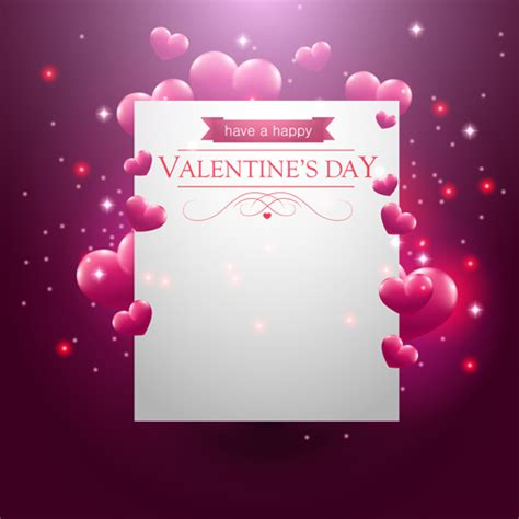 Blank Valentines Card Template by Blank Paper With Valentines Day Card Vector Vector