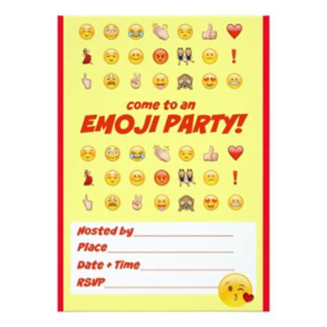 tarjetas e invitaciones cumplea 241 os emoji zazzle es