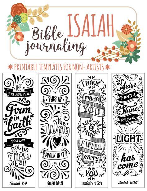 templates for bible bookmarks isaiah 4 bible journaling printable templates