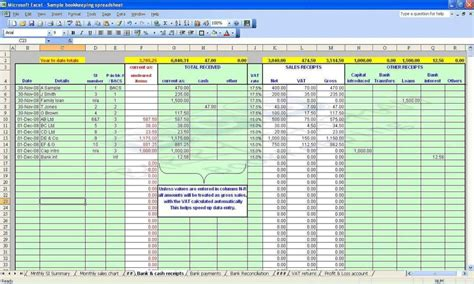 Bookkeeping For Self Employed Spreadsheet by Bookkeeping Spreadsheet Template Free Haisume