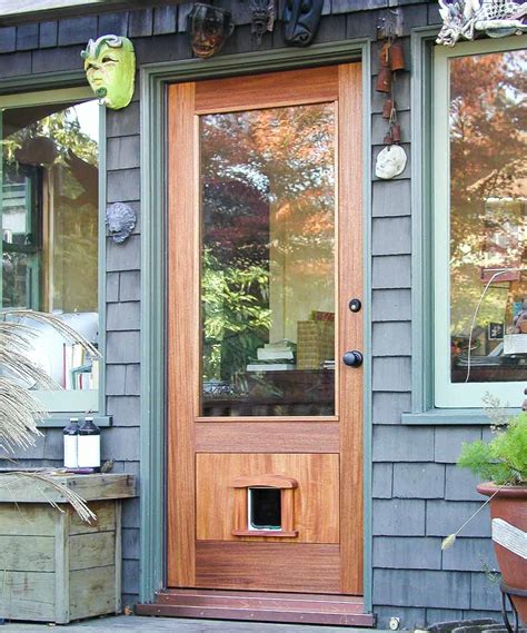 Exterior Pet Doors Awesome Exterior Door With Pet Door Contemporary Interior Design Ideas Angeliqueshakespeare