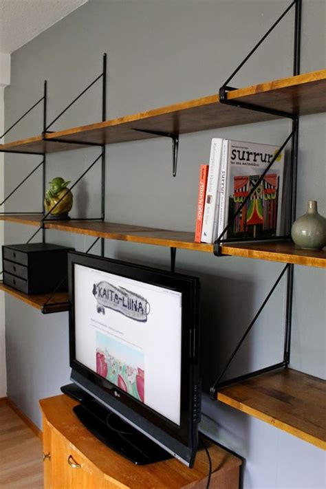 ikea wall unit hack ikea hack ekby g 228 ll 246 wall side units painted black with