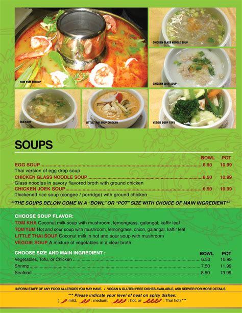 soup kitchen menu soups
