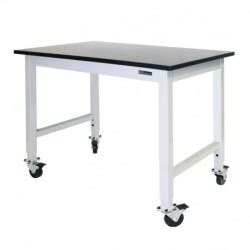 iac benches iac mobile rolling lab bench table epoxy top equipmax