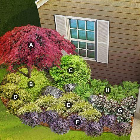 shade flower garden shade garden plans by region
