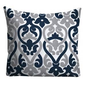 Navy And Gray Throw Pillows Navy Grey Outdoor Pillows Outdoor Throw Pillows Patio