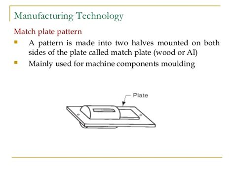 match plate pattern in casting casting introduction
