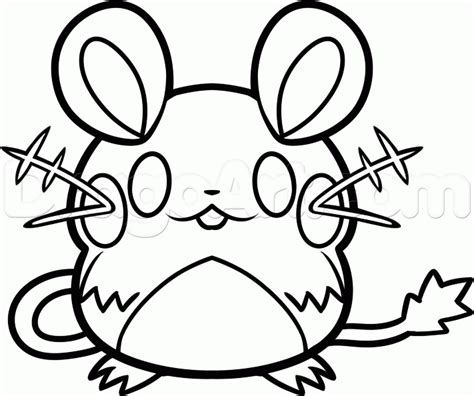 pokemon coloring page dedenne how to draw dedenne step by step pokemon characters