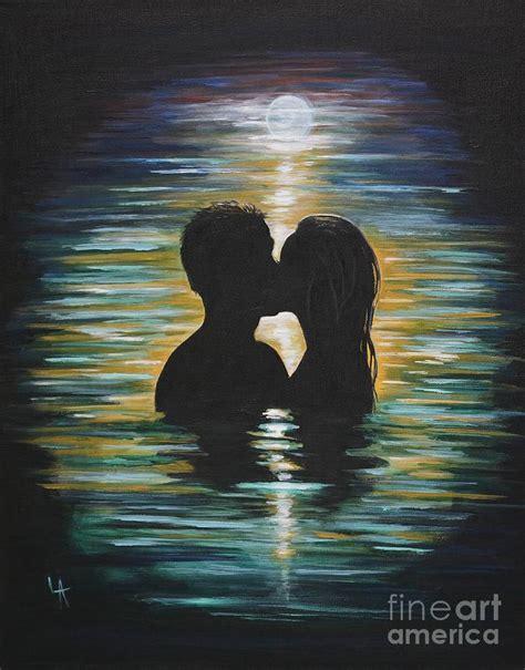 romantic swim painting  leslie allen
