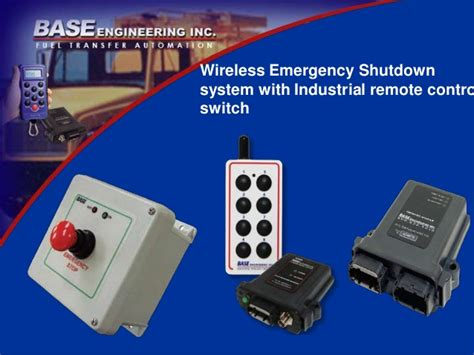 Lu Emergency Pakai Remote wireless emergency shutdown system with industrial remote
