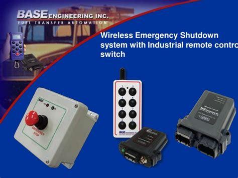 Lu Emergency Remote wireless emergency shutdown system with industrial remote