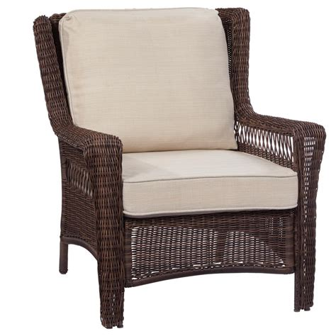 hton bay park meadows brown stationary wicker outdoor