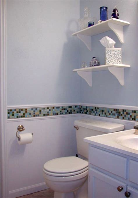 Bathroom Tile Border Ideas | 22 white bathroom tiles with border ideas and pictures
