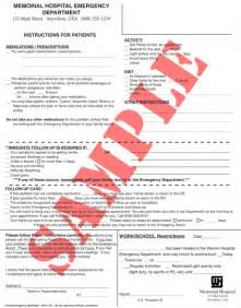 Emergency Room Discharge Template by Emergency Department Consulting And Management