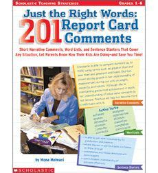 Scholastic Store Gift Card - report card comments on pinterest report cards comment and teaching