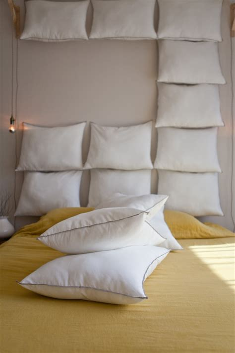 Hanging Pillow Headboard by Just Add Pillows The Diy Headboard For 35 Remodelista