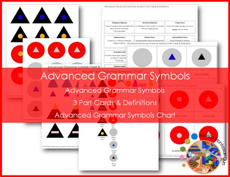 Collection Of Montessori Advanced Grammar Symbols Package Making