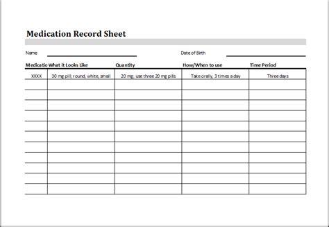 medication log sheet saving our parents