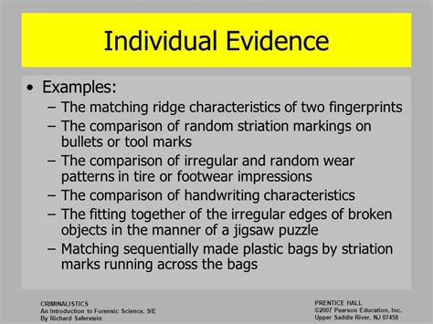 exles of pattern evidence introduction to forensic science ppt video online download