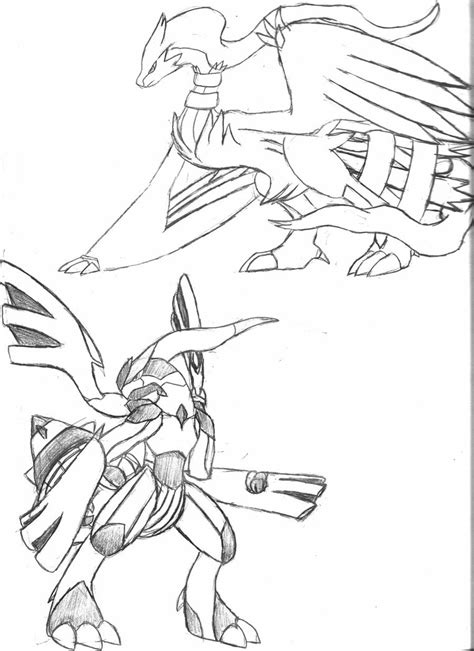 pokemon coloring pages zekrom reshiram and zekrom by shadowsoftheark on deviantart